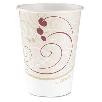 Hot cups, symphony design, 12oz, beige, 50/pack, sold as 1 package