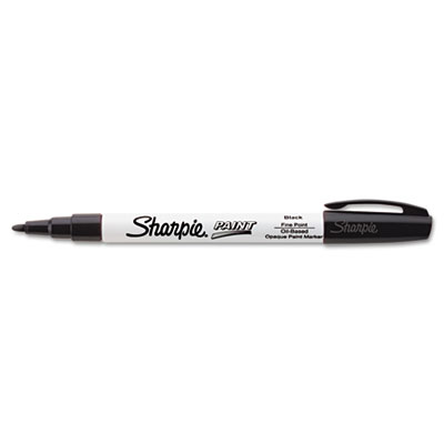 Permanent paint marker, fine point, black, sold as 1 each