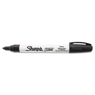 Permanent paint marker, medium point, black, sold as 1 each