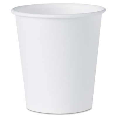 White paper water cups, 3oz, 100/pack, sold as 1 package