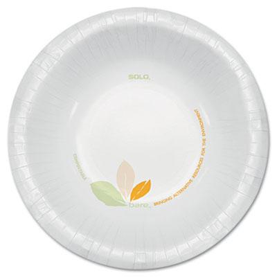 Bare paper eco-forward dinnerware, 12oz bowl, green/tan, 500/carton, sold as 1 carton, 500 each per carton