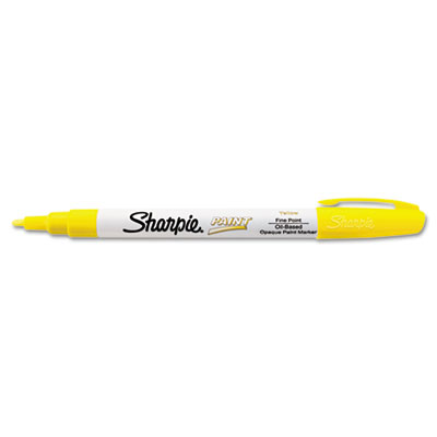 Permanent paint marker, fine point, yellow, sold as 1 each