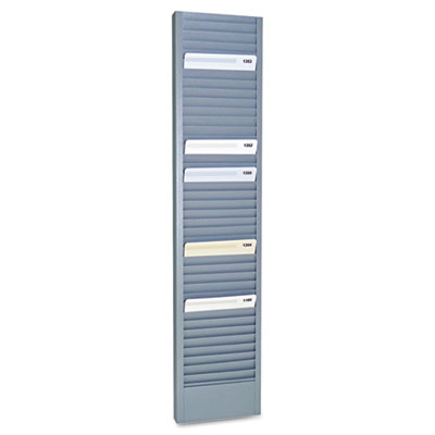"40-pocket steel swipe card/badge rack, 4-1/8"" x 18-11/16, sold as 1 each"