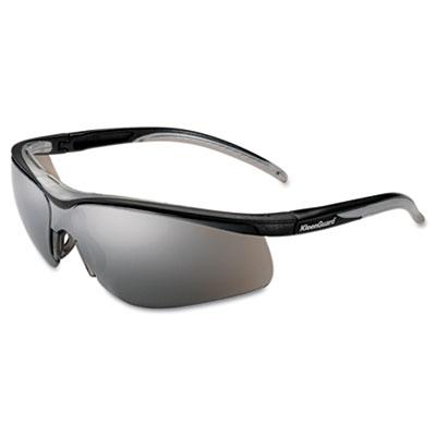 V40 contour eye protection, black frame/silver mirror lens, sold as 1 box, 12 each per box