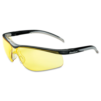 V40 contour eye protection, black frame/amber lens, sold as 1 box, 12 each per box