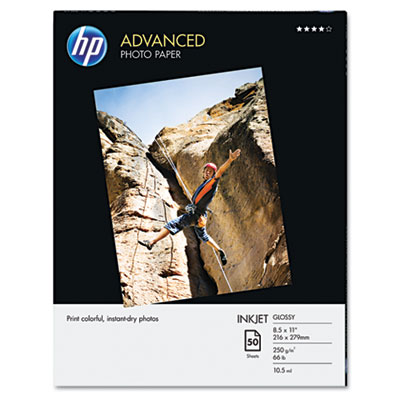 Advanced photo paper, 56 lbs., glossy, 8-1/2 x 11, 50 sheets/pack, sold as 1 package