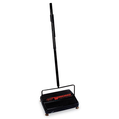 "Workhorse Carpet Sweeper, 46"", Black 