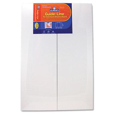 Guide-line foam display board, 48 x 36, white, 6/carton, sold as 1 carton, 6 each per carton