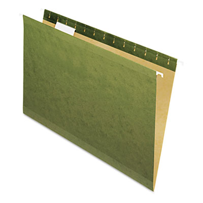 X-ray hanging file folders, no tabs, legal, standard green, 25/box, sold as 1 box, 25 each per box