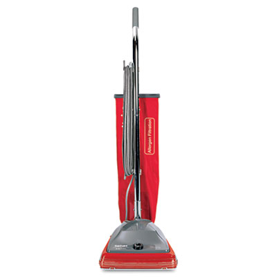 Commercial standard upright vacuum, 19.8lb, red/gray, sold as 1 each