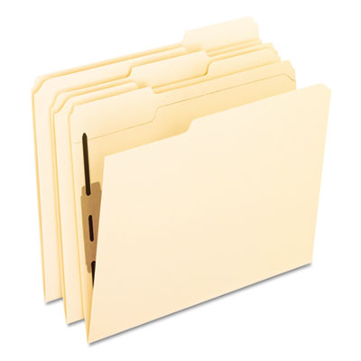 Folders with one bonded fastener, 1/3 cut top tab, letter, manila, 50/box, sold as 1 box, 50 each per box