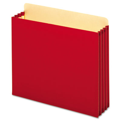 File cabinet pockets, straight, 1 pocket, letter, red, sold as 1 box, 10 each per box
