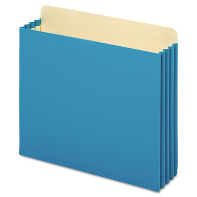File cabinet pockets, straight cut, 1 pocket, letter, blue, sold as 1 box, 10 each per box