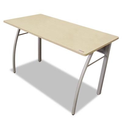 Trento line rectangular desk, 47-1/4w x 23-5/8d x 29-1/2h, oatmeal/gray, sold as 1 each