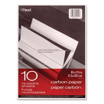 Carbon paper, mill finish, 8 1/2 x 11, 10 sheets, sold as 1 package