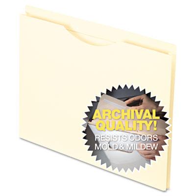 Smart shield?reinforced file jacket, flat, letter, manila, 100/box, sold as 1 box, 100 each per box