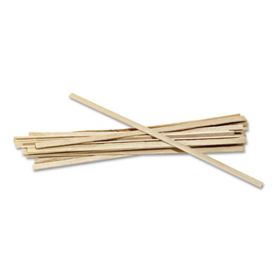 "Wood coffee stirrers, 5 1/2"" long, woodgrain, 1000 stirrers/box, sold as 1 box, 1000 each per box"