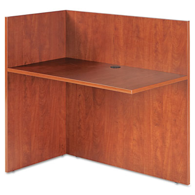 Valencia reversible reception return, 44w x 23 5/8d x 41 1/2h, medium cherry, sold as 1 each