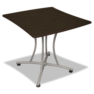 Trento line palermo table, 33w x 31-1/2d x 29-1/2h, mocha/gray, sold as 1 each