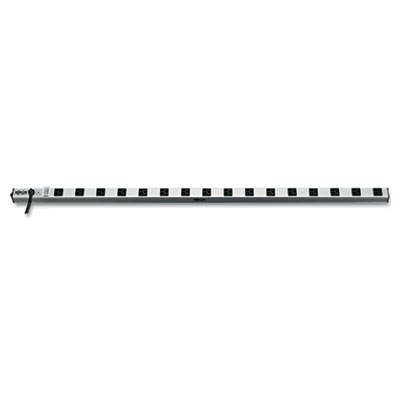 Power strip, 16 outlets, 1 1/2 x 48 x 1/2, 15 ft cord, silver, sold as 1 each