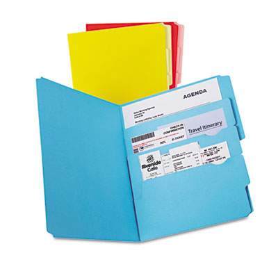 Divide it up file folder, multi section, 1/2 cut tab, letter, assorted, 12/pack, sold as 1 package