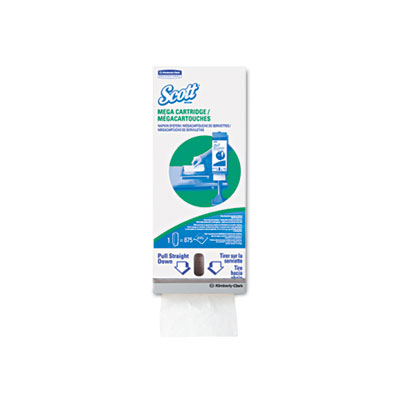 Megacartridge napkins, 1-ply, 8 2/5 x 6 1/2, white, 875/pack, 6 packs/carton, sold as 1 carton, 5250 each per carton