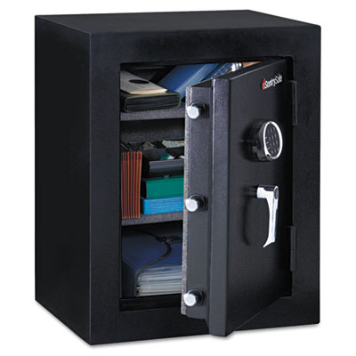 Executive fire-safe, 3.4 ft3, 21 3/4w x 19d x 27 3/4h, black, sold as 1 each