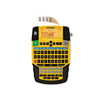 Rhino 4200 basic industrial handheld label maker, 1 line, 4 3/50x8 23/50x2 6/25, sold as 1 each