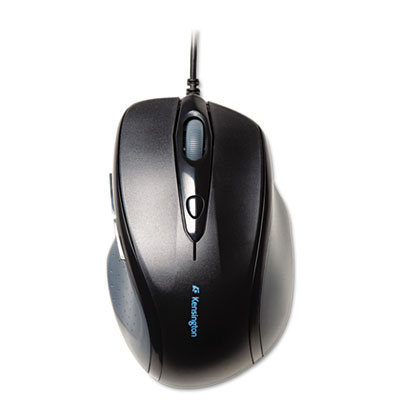 Pro fit wired full-size mouse, usb, right, black, sold as 1 each