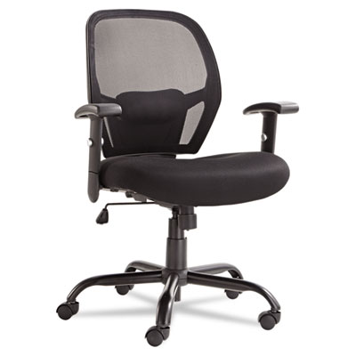 Merix450 series mesh big/tall mid-back swivel/tilt chair, black, sold as 1 each