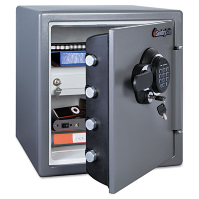 Electronic fire safe, 1.23 ft3, 16 3/8w x 19 3/8d x 17 7/8h, gunmetal gray, sold as 1 each