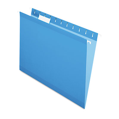 Reinforced hanging folders, 1/5 tab, letter, blue, 25/box, sold as 1 box, 25 each per box