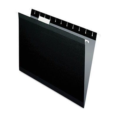 Reinforced hanging folders, 1/5 tab, letter, black, 25/box, sold as 1 box, 25 each per box