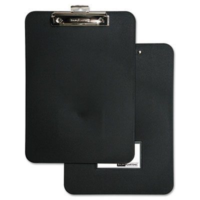 "Unbreakable recycled clipboard, 1/2"" capacity, 8 1/2 x 11, black, sold as 1 each"