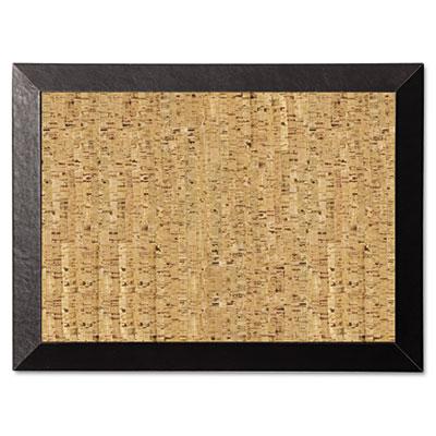 Natural cork bulletin board, 24x18, cork/black, sold as 1 each