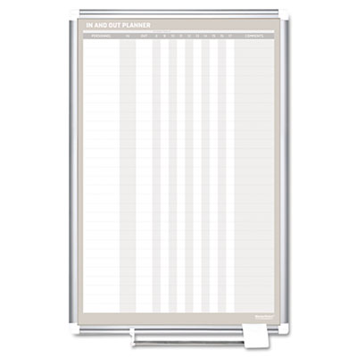 In-out magnetic dry erase board, 24x36, silver frame, sold as 1 each