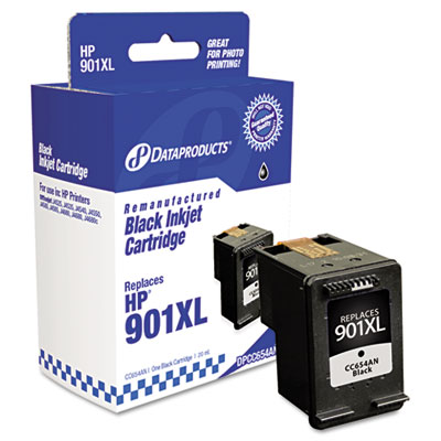 Remanufactured cc654an (901xl) high-yield ink, 700 page-yield, black, sold as 1 each