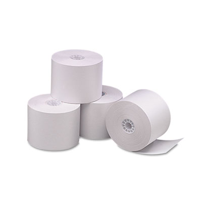 "Single ply thermal cash register/pos rolls, 2 1/4"" x 165 ft., white, 6/pk, sold as 1 package"