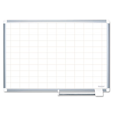 "Grid planning board, 48x36, 2x3"" grid, white/silver, sold as 1 each"