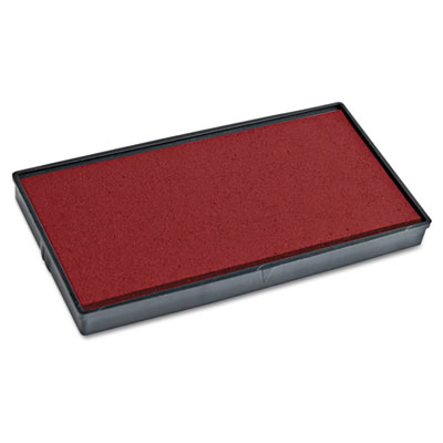 Replacement ink pad for 2000 plus 1si10p, red, sold as 1 each