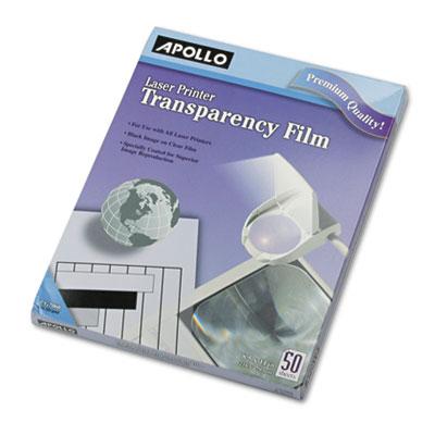 B/w laser transparency film w/o sensing stripe, letter, clear, 50/box, sold as 1 box, 50 sheet per box
