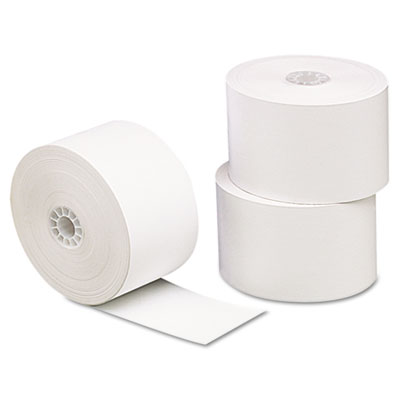 "Single-ply thermal paper rolls, 1 3/4"" x 230 ft, white, 10/pack, sold as 1 package"
