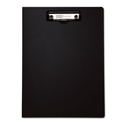 "Portfolio clipboard with low-profile clip, 1/2"" capacity, 8 1/2 x 11, black, sold as 1 each"