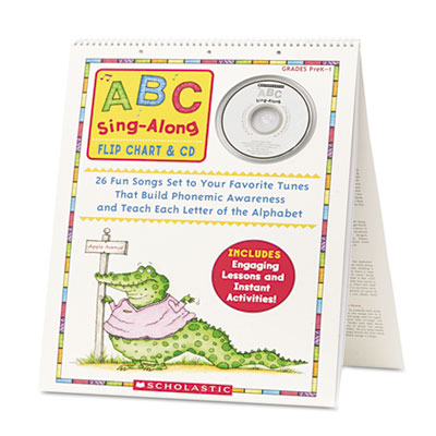 Abc singalong flip chart, 26 pages, cd, sold as 1 each