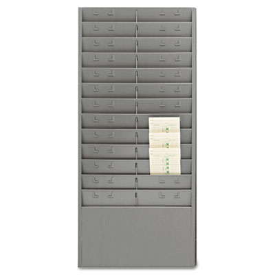 "Steel time card rack with adjustable dividers, 6"" pockets, sold as 1 each"