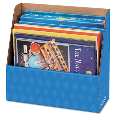 Folder holder storage box, 11 3/4 x 4 1/2 x 11, blue, sold as 1 carton, 12 each per carton