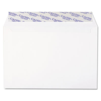 Grip-seal booklet/document envelope, 6 x 9, white, 250/box, sold as 1 box, 250 each per box