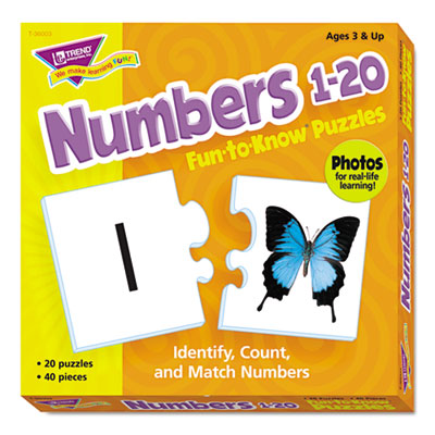 Fun to know puzzles, numbers 1-20, sold as 1 each