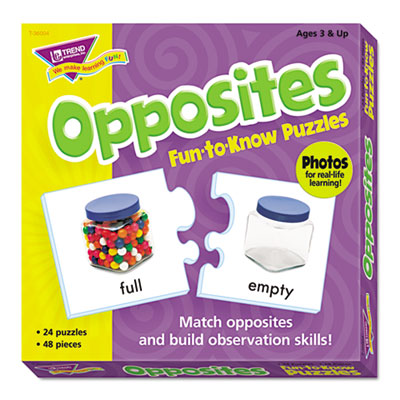 Fun to know puzzles, opposites, sold as 1 each