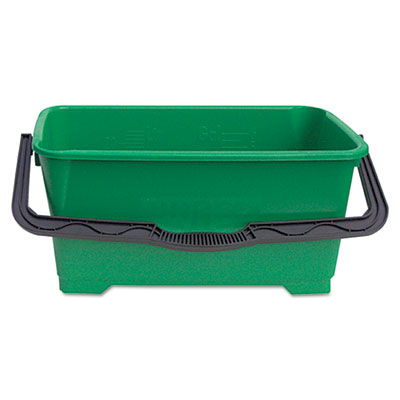 Pro bucket, 6gal, plastic, green, sold as 1 each